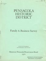 Total occupant survey of the Pensacola Historical District