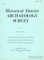 Historical district archaeology survey