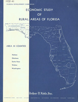Economic study of rural areas of Florida: area XI counties : Holmes, Okaloosa, Santa Rosa, Walton, Washington