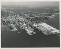 AERIAL VIEW OF DOCKS AT PENSACOLA PORT
