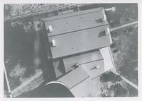 AERIAL VIEW OF THE PENSACOLA LIGHTHOUSE KEEPER'S HOUSE, APRIL 1962