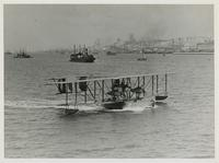 CURTISS NC-4 NAVY SEAPLANE ON THE TAGUE RIVER, MAY 1919