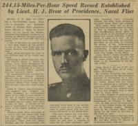 244.15 Miles-Per-Hour Speed Record Established, September 14, 1923