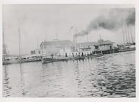 "STEAMBOAT ""NELLIE"" AND PALAFOX WHARF, CA. 1900"