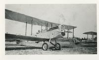 """""""SHORTY"""" IN A BIPLANE, CORRY FIELD, 1924, FRONT"""
