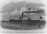 """""""FLAGSHIP OF THE HOME SQUADRON,"""" FROM FRANK LELIE'S ILLUSTRATED, 1861, FRONT"""